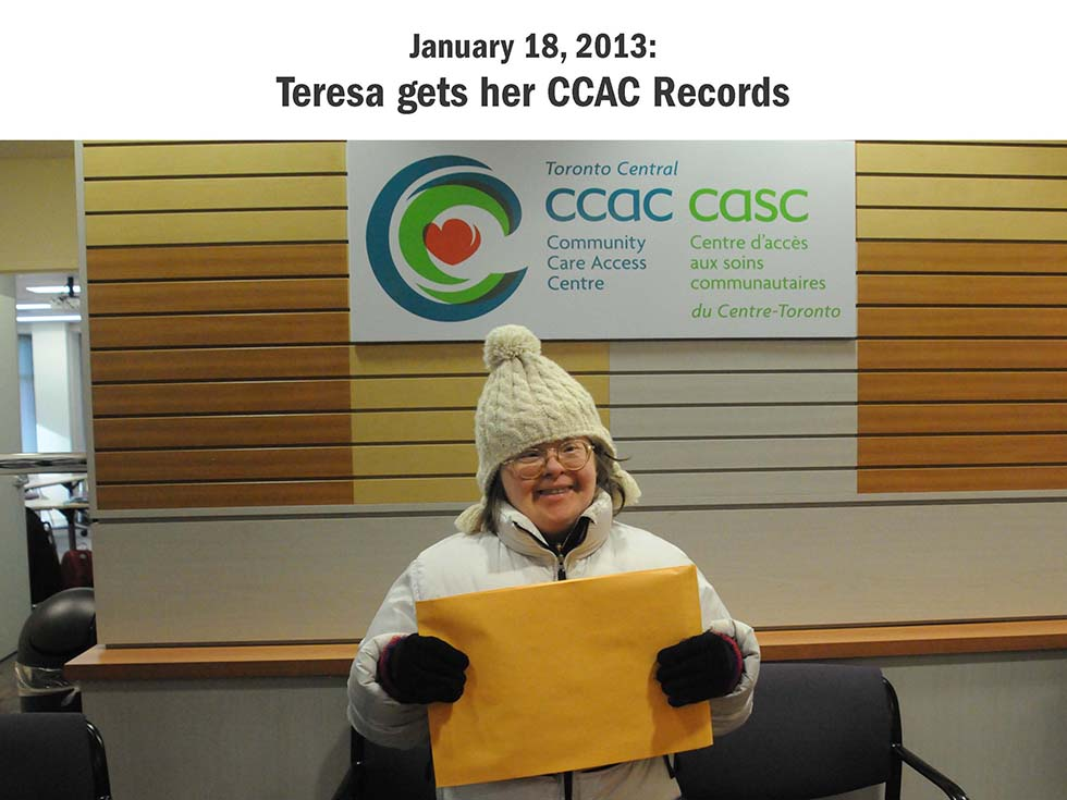 January 18, 2013: Teresa gets her CCAC Records